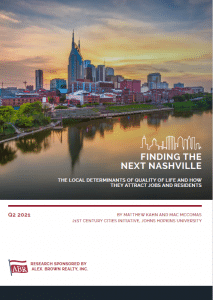Finding the Next Nashville: The Local Determinants of Quality of Life and How They Attract Jobs and Residents